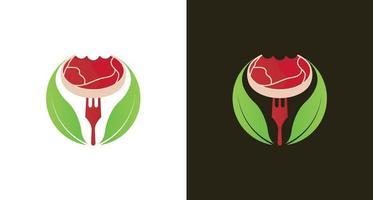 logotipo moderno de bife de carne vetor