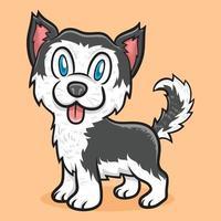 ilustração de animal cão husky siberiano fofo vetor