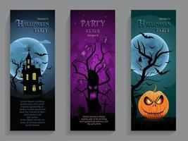 panfleto modelo de festa de halloween vetor