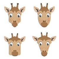conjunto de girafas dos desenhos animados.