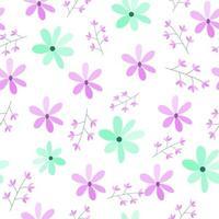 gráfico de padrão de flor botânica floral sem emenda. design perfeito para plano de fundo, papel de parede, álbum de recortes e têxteis. design de superfície