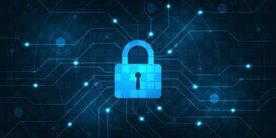fundo do vetor sistema de segurança digital seguro.