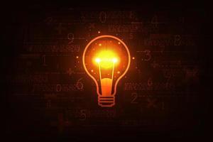 vetor de lâmpada de fundo de tecnologia em estilo criativo.