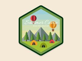 Vetores de remendo de acampamento de verão exclusivo