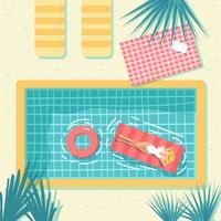 Vetor de piscina vintage