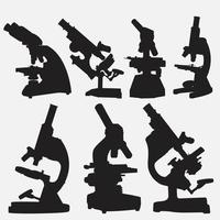 conjunto de modelos de desenho vetorial de microscópio vetor