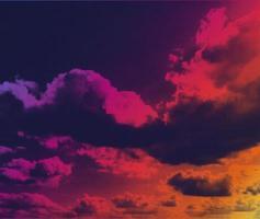 nuvens de meio-tom do vetor. fundo abstrato de cor vibrante. cores e texturas do estilo retro dos anos 80. efeito de fumaça de meio-tom do vetor. vetor