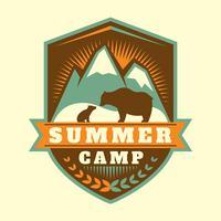 remendo do acampamento de verão vetor