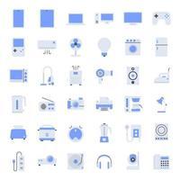 ícones de eletrodomésticos planos. vetor