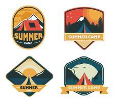 Pacote de vetores de remendo de acampamento de verão