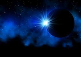 fundo do eclipse solar vetor