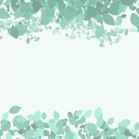 borda de folhas pintadas à mão vetor