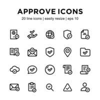 aprovar modelo de ícone vetor