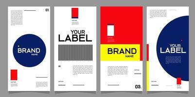 modelo de design de banner de vetor estilo minimalista para marca