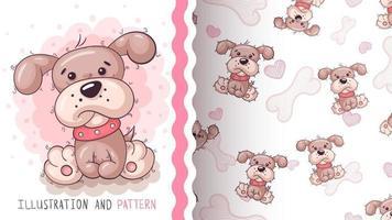 cão animal adorável personagem de desenho animado vetor