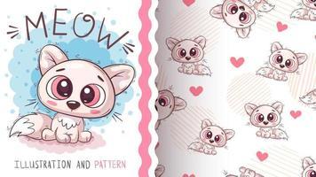 personagem de desenho animado infantil gato animal vetor