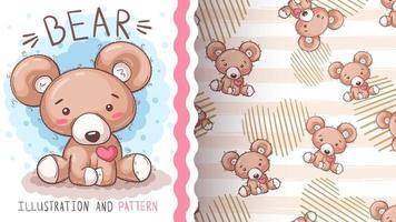 urso animal personagem de desenho animado engraçado vetor