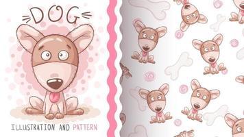 cachorro animal adorável personagem de desenho animado vetor