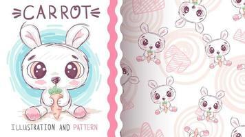 coelho fofo personagem de desenho animado vetor