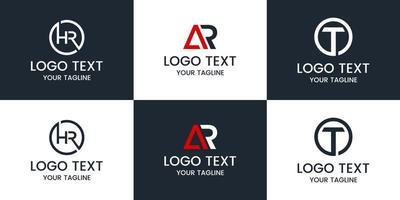 monograma definir modelo de design de logotipo. vetor