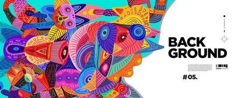 vetor colorido abstrato étnico fundo cultural banner