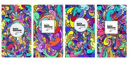 ornamento de fundo colorido abstrato colorido doodle étnico vetor