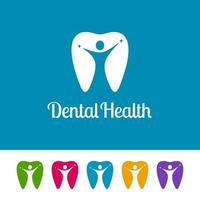 logotipos odontológicos abstratos com figuras humanas vetor