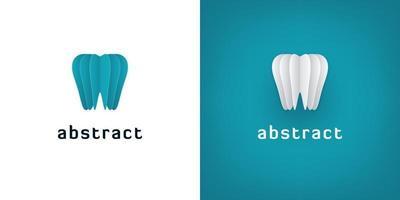 Logotipos de arte em papel 3D para odontologia vetor