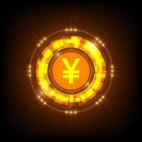 holograma digital yuan vetor