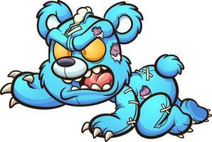 urso de pelúcia malvado vetor