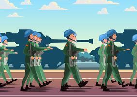 Desfile militar vetor