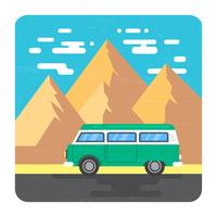 Paisagem de viagem rodoviária vetor