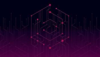 linhas abstratas e pontos conectam o fundo. dados digitais de conexão de tecnologia e conceito de big data. vetor