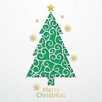 estilo de corte de papel de fundo de bolas de Natal. ilustrações vetoriais. vetor