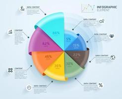 modelo de design de infográficos de negócios. ilustração vetorial. pode ser usado para layout de fluxo de trabalho, diagrama, opções de número, opções de inicialização, web design. vetor