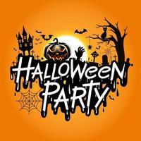 ilustração em vetor festa halloween.