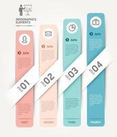 modelo de elementos de infográficos de negócios. ilustrações vetoriais. pode ser usado para layout de fluxo de trabalho, banner, diagrama, opções de número, web design, modelo de cronograma. vetor