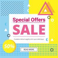 Vector Design de oferta de venda de verão