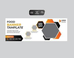 design de banner de comida vetor