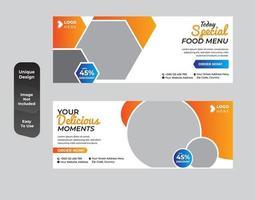 conjunto de bandeiras de comida saudável moderna vetor