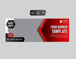 design de modelo de menu de restaurante de banner de fast food vetor
