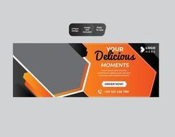 modelo de negócio de banner web restaurante comida vetor