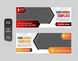 conjunto de design de modelo de banner de negócios de restaurante vetor