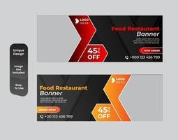 design de banner de comida para restaurante vetor