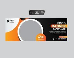 design de modelo de banner de comida vetor
