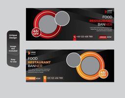 conjunto de design de modelo de banner de comida saudável vetor