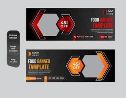 Conjunto de modelos de banner web de conceito de fast food vetor