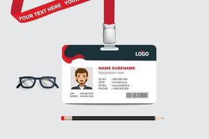 impressão simples de design de modelo de cartão de identificação vetor