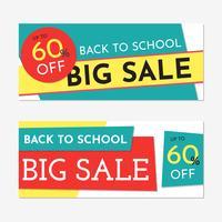 De volta aos banners de venda de escola vetor