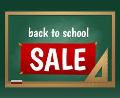 De volta ao vetor de placa de giz de venda de escola